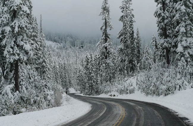 Photo: the road in early October, just before it was closed for the season.