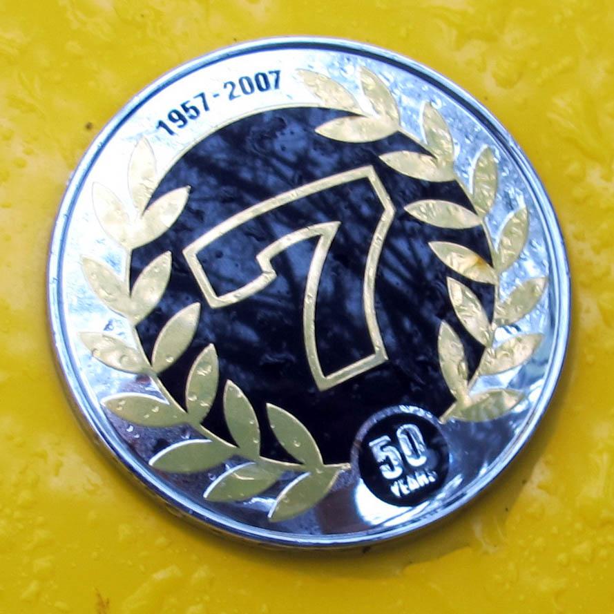 Caterham anniversary badge